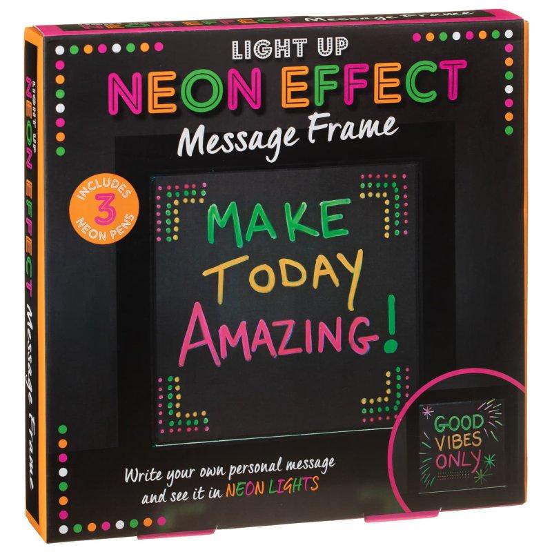 Light Up Neon Effect Message Frame   Novelty Lighting - B&M