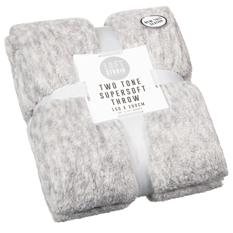 Loft Studio Two Tone Throw - Grey