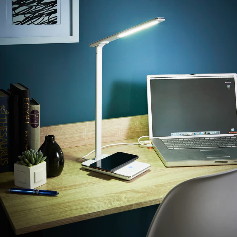 Goodmans LED Desk Lamp with Qi Wireless Charging