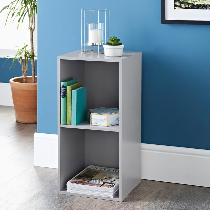 Lokken 2 Cube Shelving Unit - Grey