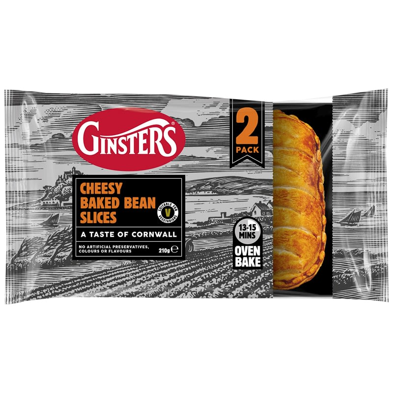 Ginsters Cheesy Baked Bean Slices 2pk