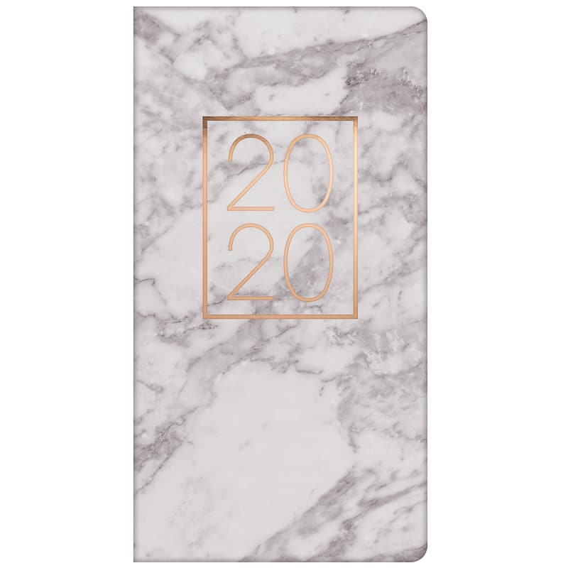 2020 Slim Metallic Diary - Marble Grey