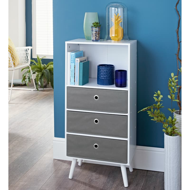 Malmo 3 Drawer Shelving Unit