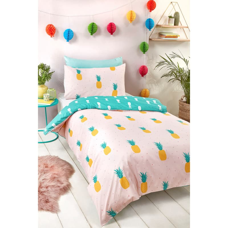 Kids Fashion Single Duvet Set - Pineapple