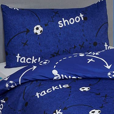 Football Single Duvet Set - Blue