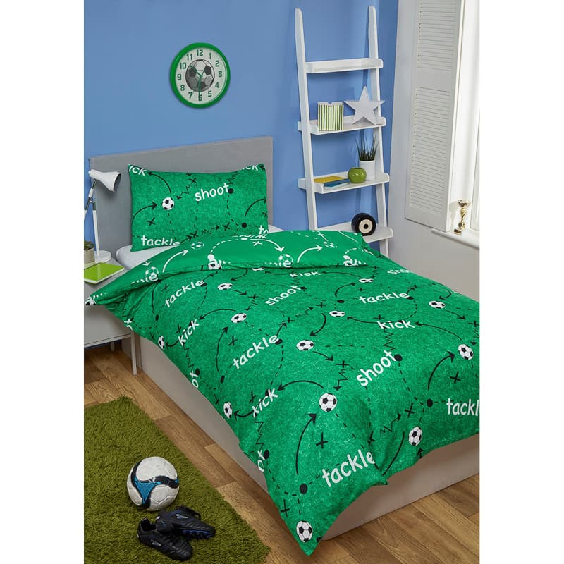 Football Single Duvet Set - Green