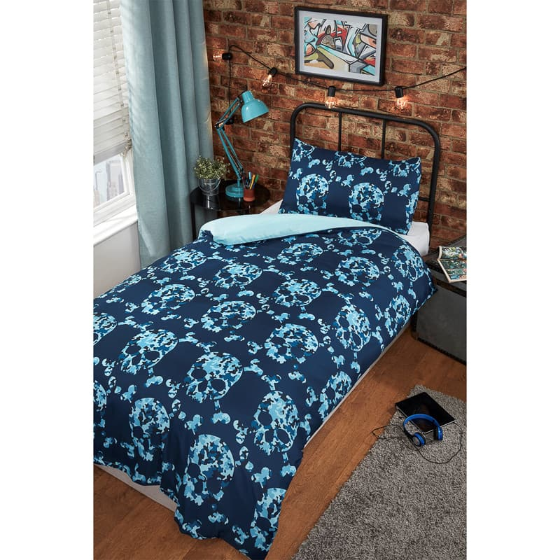 Fashion Single Duvet Set - Skulls
