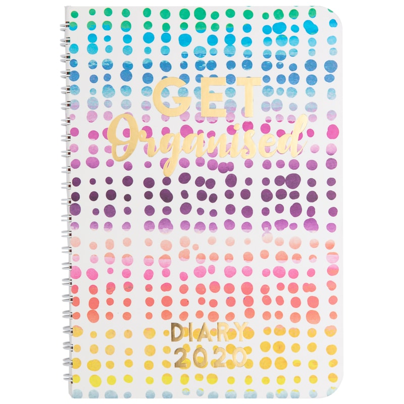 12 Month Spiral Planner Diary 2020 - Spots
