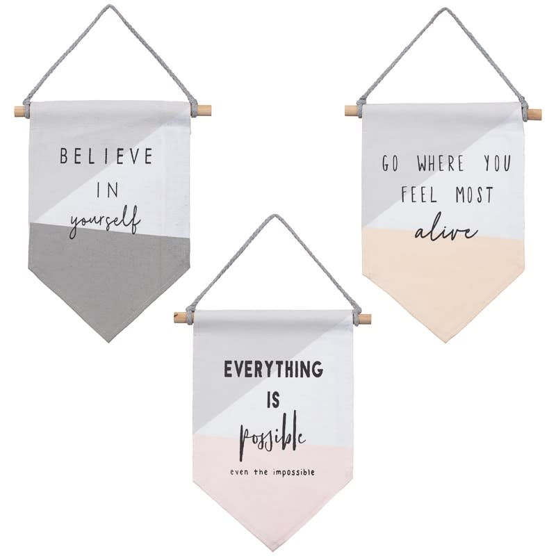 Flag Hanging Plaque - Believe in Yourself