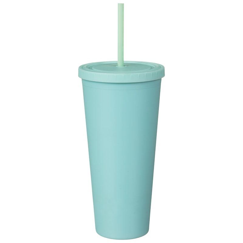 Soft Touch Soda Cup - Aqua