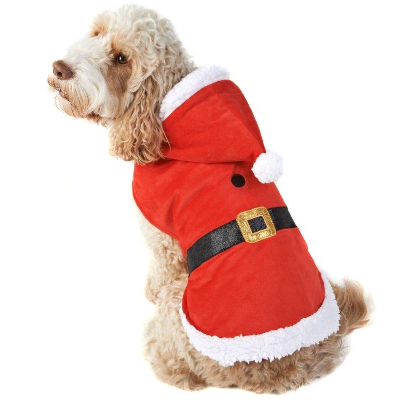 Christmas Dog Costumes.Santa Christmas Dog Costume M Xl