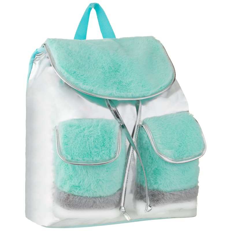 Fur Shine Backpack - Teal