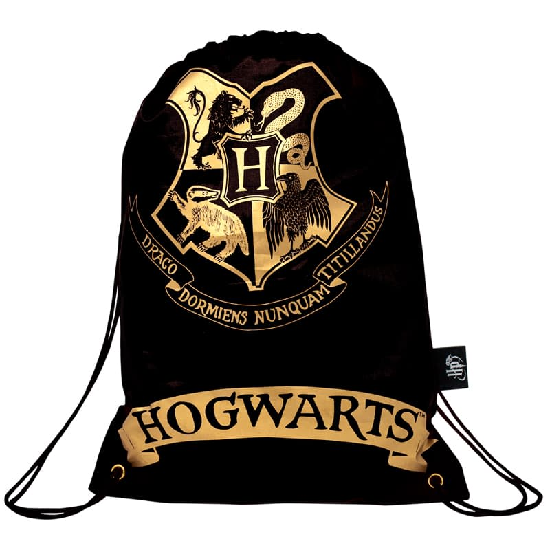 Harry Potter Drawstring Bag - Black