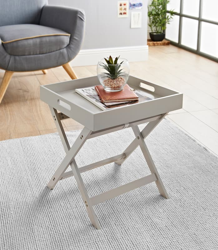 Bjorn Folding Tray Table - Stone