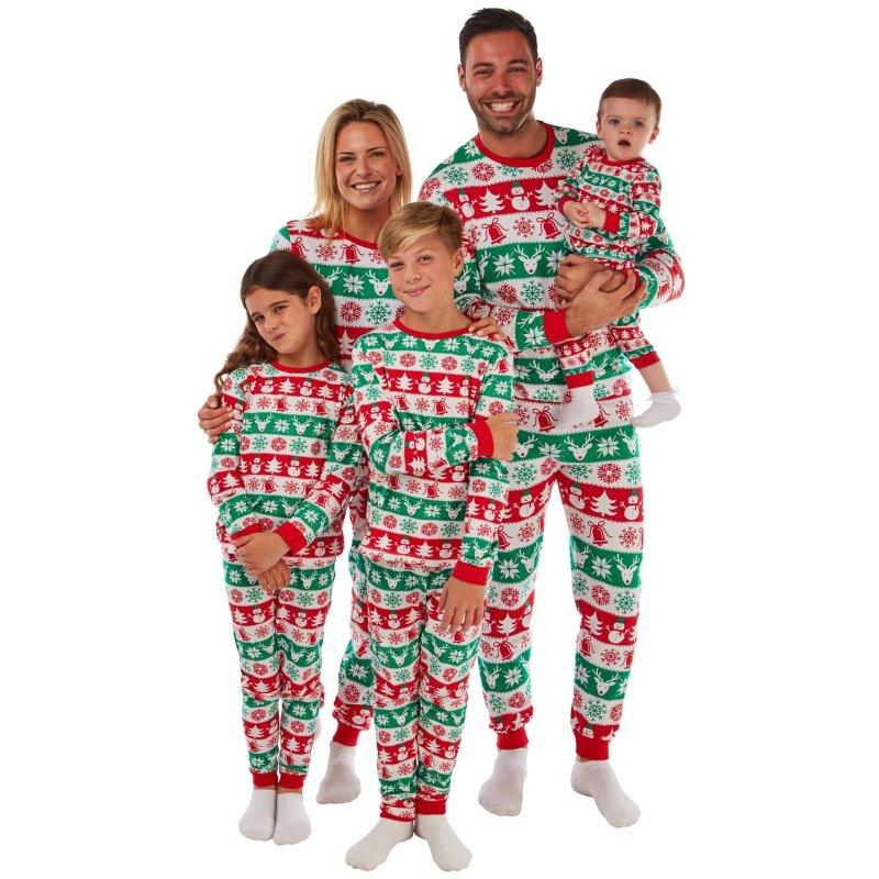 Family Christmas Pajamas 2019 Uk.Ladies Fair Isle Christmas Pyjamas