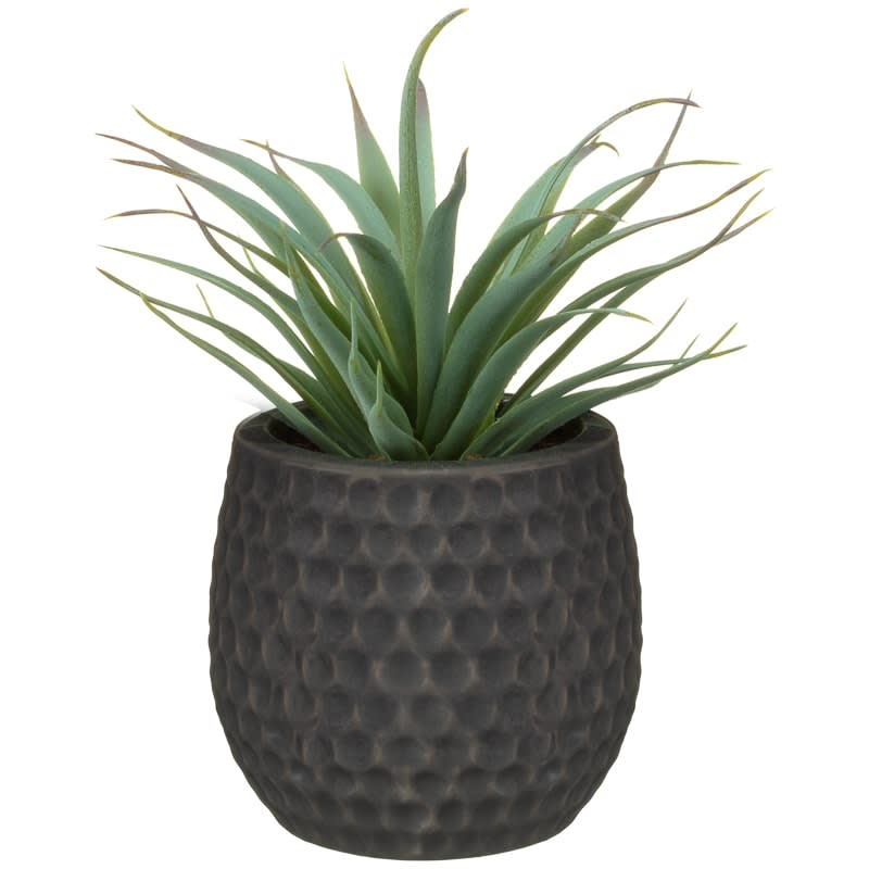 Artificial Hebe Plant in Ceramic Pot - Grey