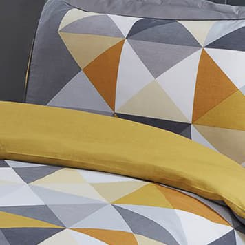 Geo Single Duvet Set - Ochre