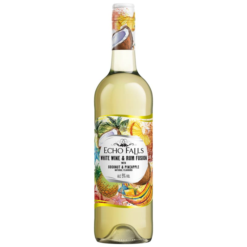 Echo Falls White Wine & Rum Fusion (Coconut & Pineapple) 75cl