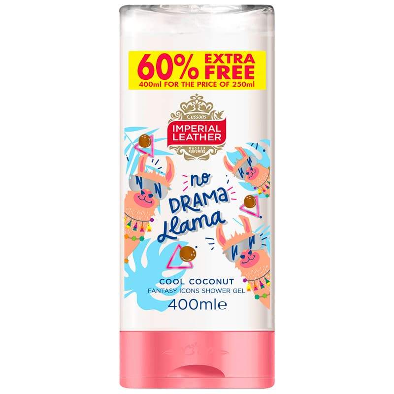 Imperial Leather No Drama Llama Shower Gel 400ml - Cool Coconut