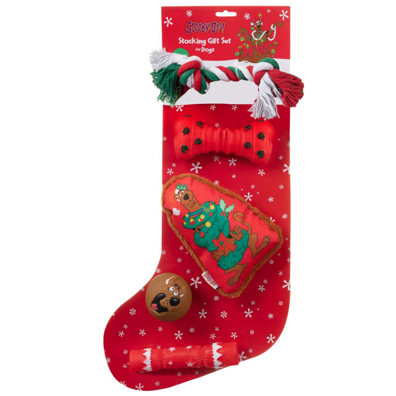 Dog Christmas Stocking.Scooby Doo Christmas Stocking Dog Gift Set