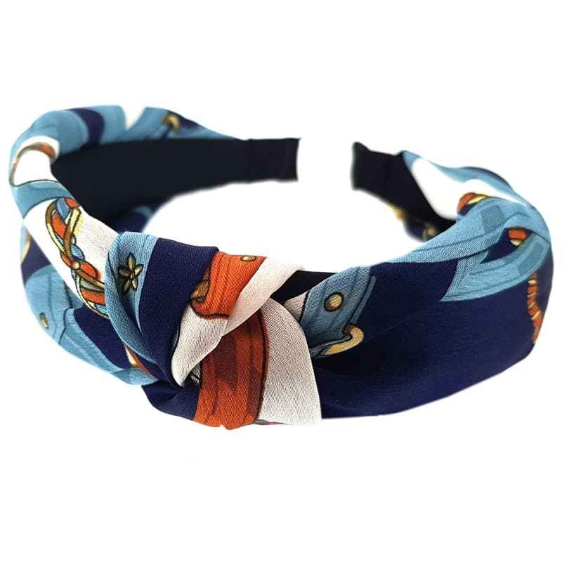 Style Studio Twist Knot Alice Band - Blue