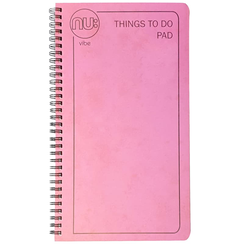 NU:Vibe Things To Do Bumper 100 sheet Pad - Pink