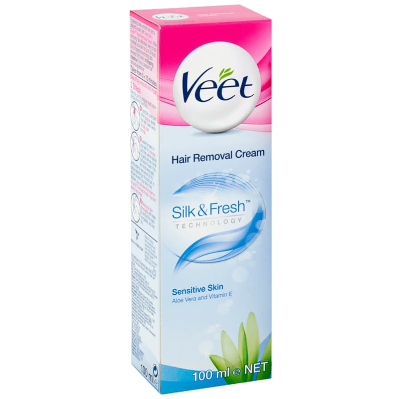 Veet Sensitive Hair Removal Cream 100ml Hair Removal B M