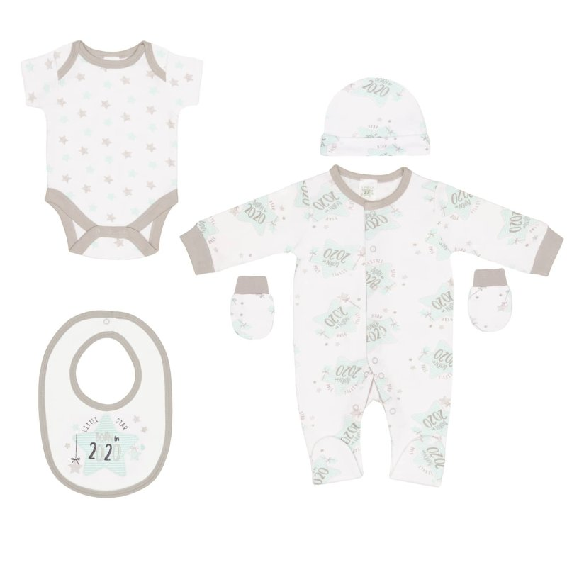 Born In 2020 Baby 5pc Set Little Star Baby Clothing B Amp M
