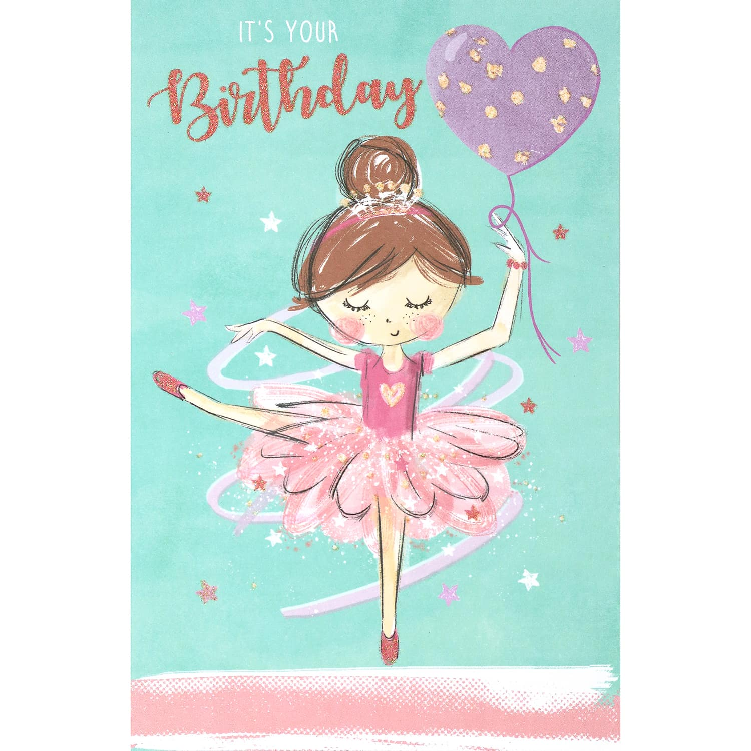 Excellent Ballerina Birthday Card Greeting Cards Personalised Birthday Cards Paralily Jamesorg