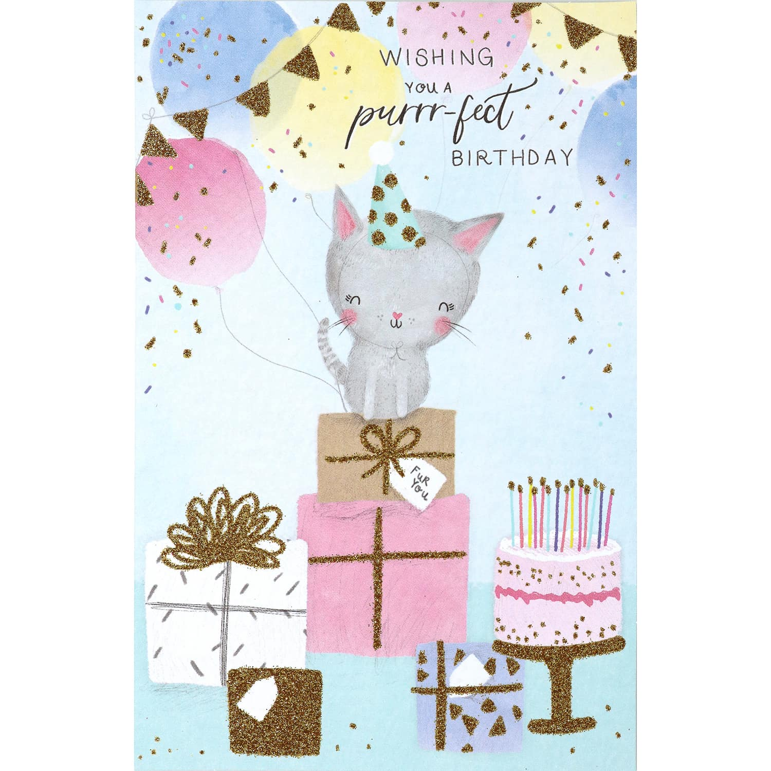 Pleasant Purrrfect Birthday Card Greeting Cards Bm Personalised Birthday Cards Paralily Jamesorg