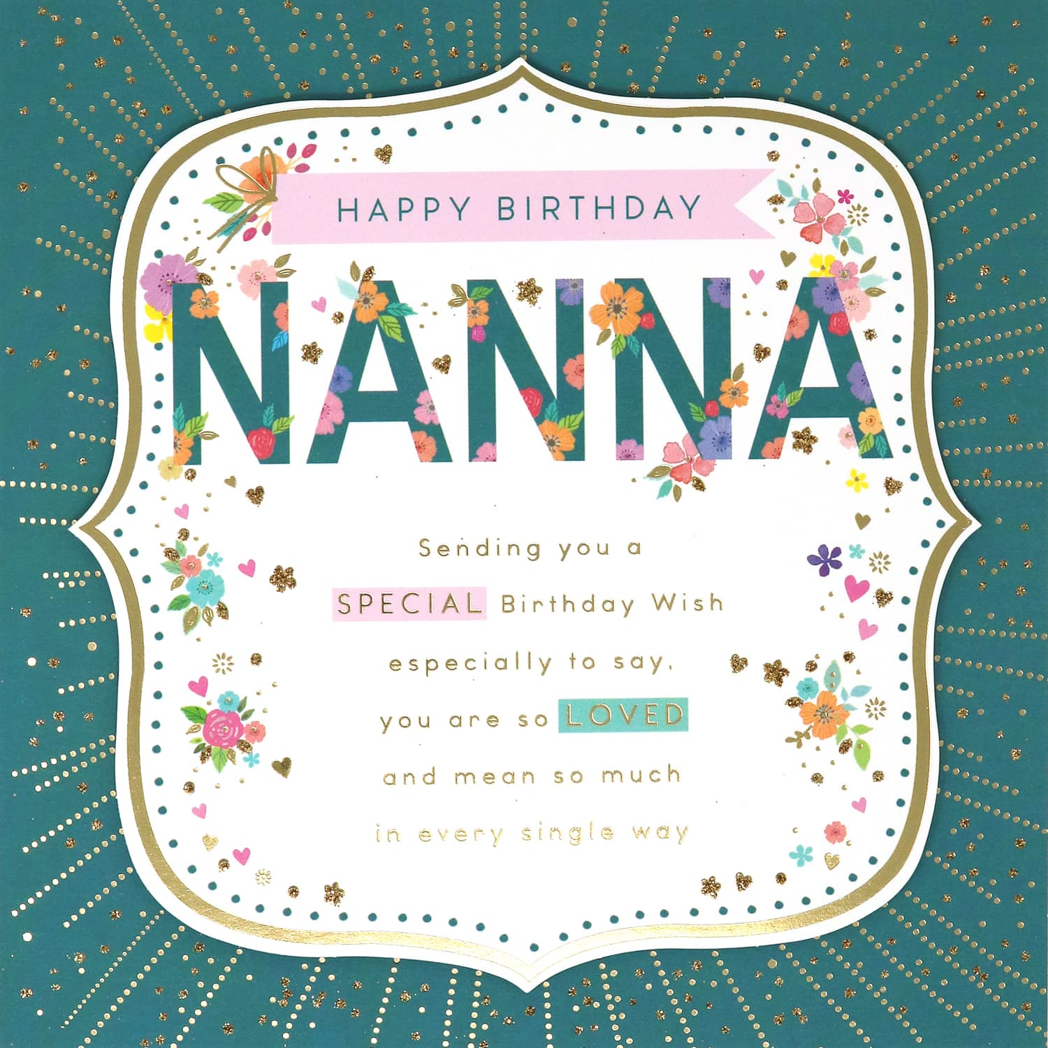 Astonishing Nanna Birthday Card Greeting Cards Bm Personalised Birthday Cards Paralily Jamesorg