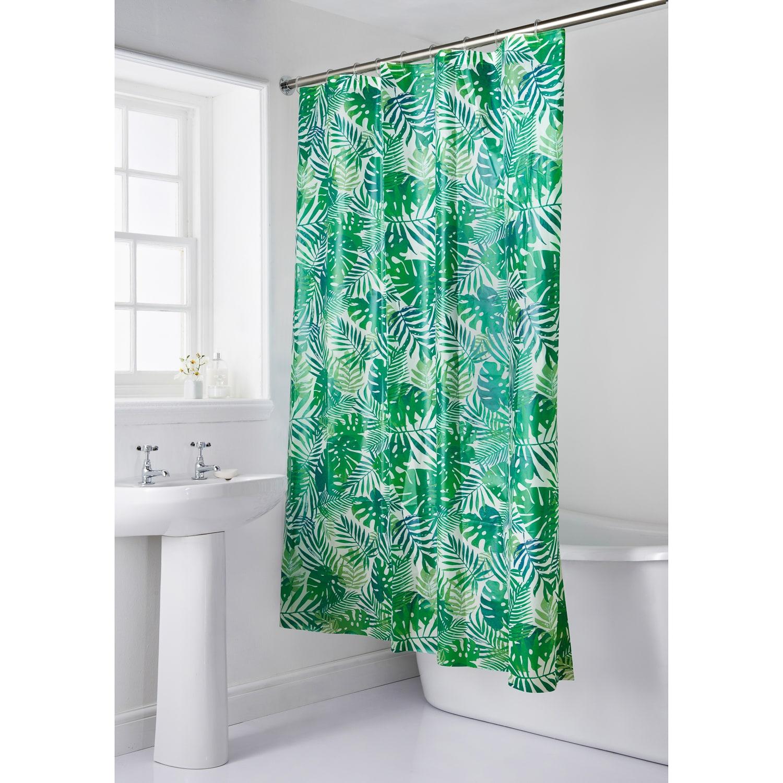 Palm Print Shower Curtain