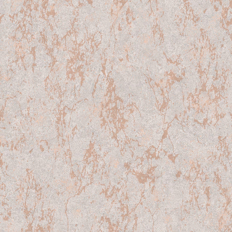 Arlo Texture Grey Rose Gold Wallpaper