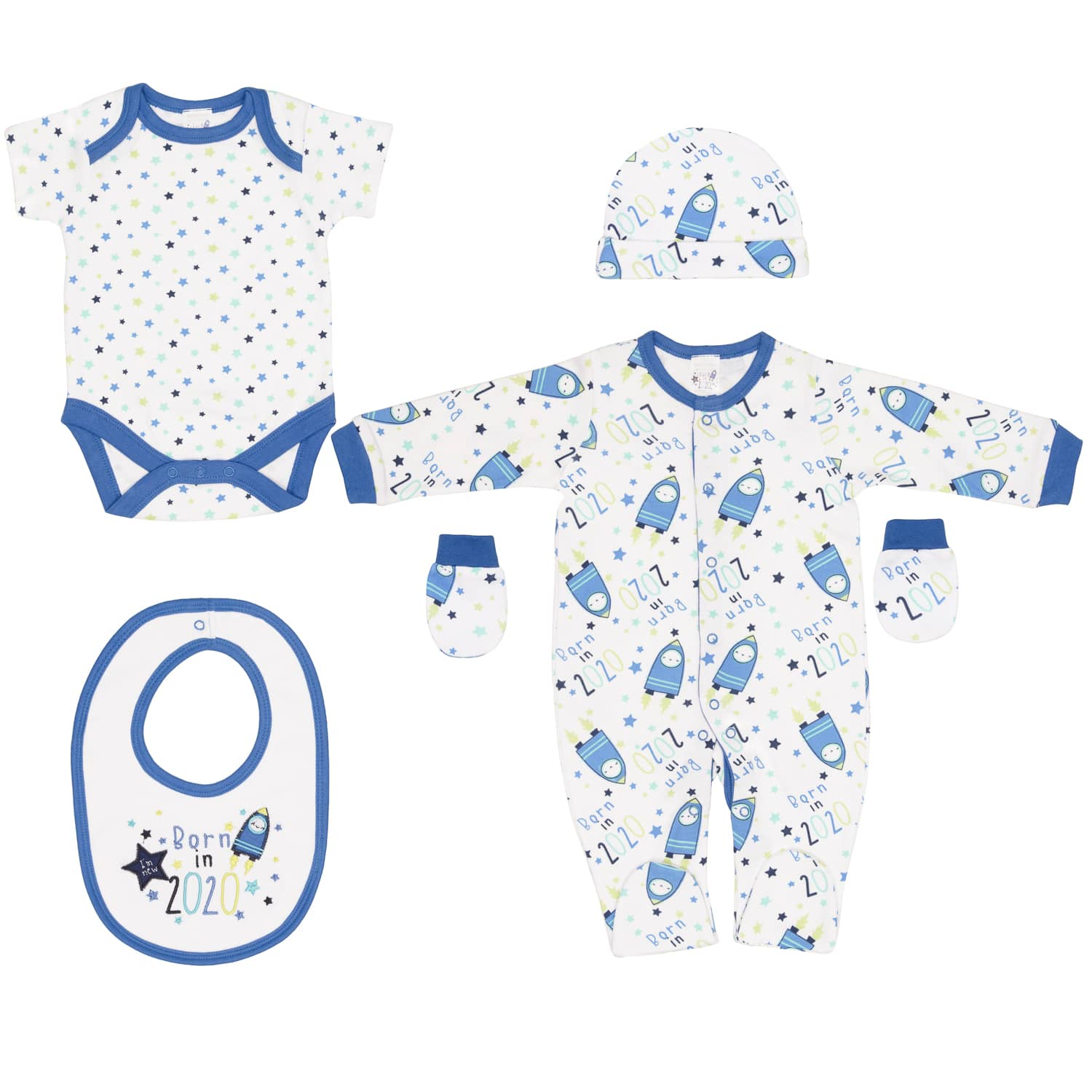 Born In 2020 Baby 5pc Set Space Baby Clothing B Amp M