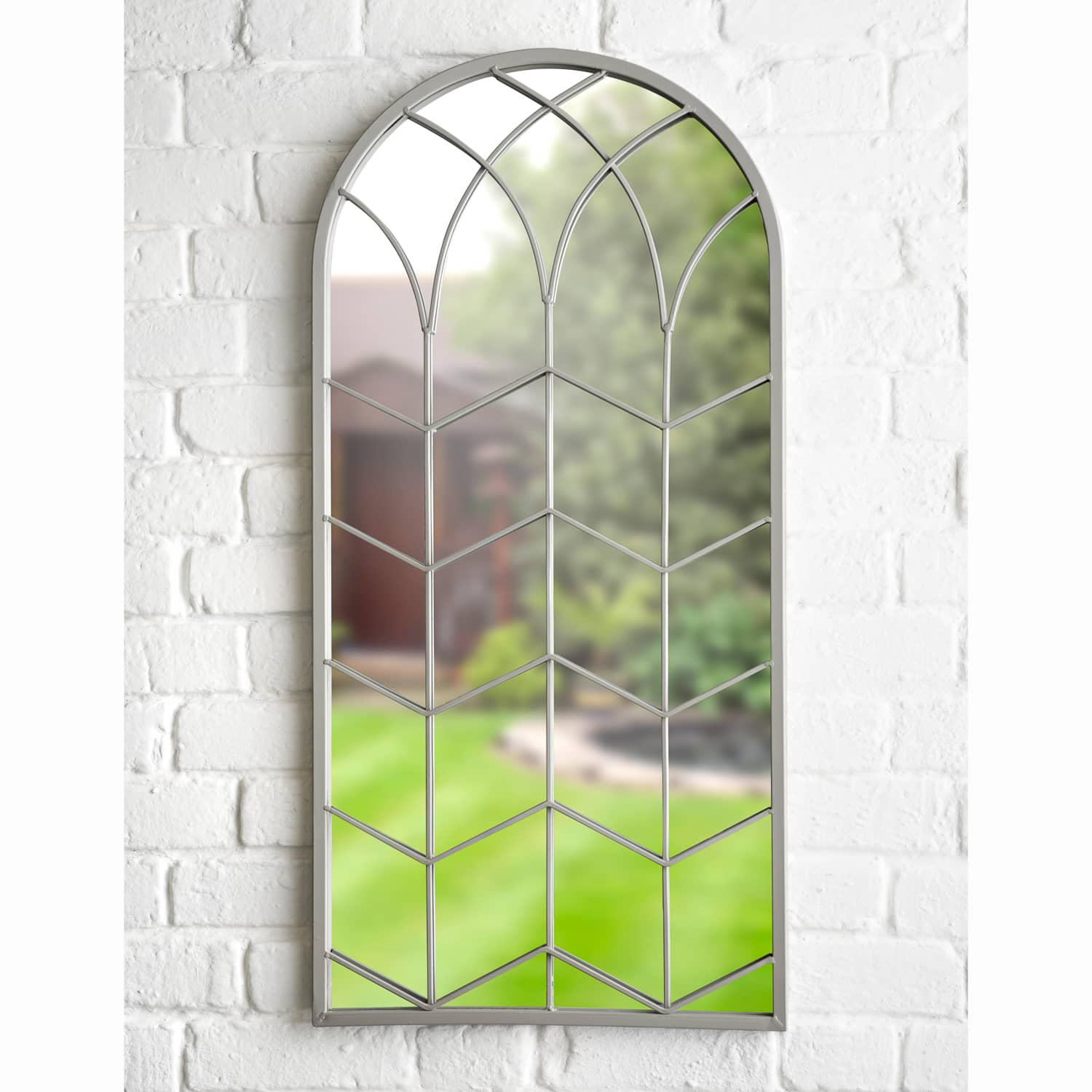 Tuscany Grey Garden Mirror Garden Wall Art B M