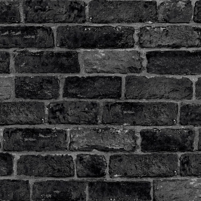 House Brick Black Wallpaper Cheap Wallpaper B M
