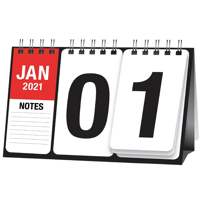 Red & Black Flip Calendar 2021 | Diaries & Calendars - B&M