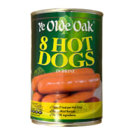 Ye Olde Oak 8 Hot Dogs in Brine 400g