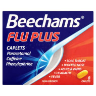 Beechams Flu Plus Caplets 8pk
