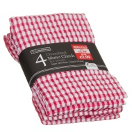 Mono Check Oversized Tea Towels 4pk