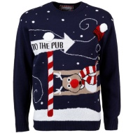 Mens Christmas Jumper - To The Pub