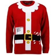 Mens Christmas Jumper - Santa Suit