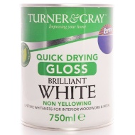Turner & Gray Quick Drying Gloss - Brilliant White 750ml