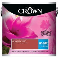 Crown 2.5L English Fire Matt Emulsion Paint