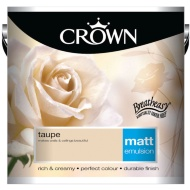 Crown 2.5L Taupe Matt Emulsion Paint