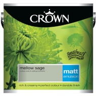 Crown 2.5L Mellow Sage Matt Emulsion Paint