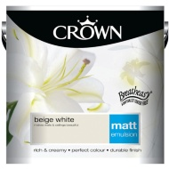 Crown 2.5L Beige White Matt Emulsion Paint