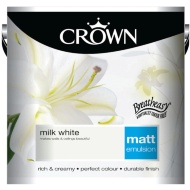 Crown 2.5L Milk White Matt Emulsion Paint