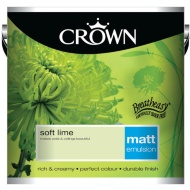 Crown 2.5L Soft Lime Matt Emulsion Paint