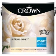 Crown 2.5L Antique Cream Matt Emulsion Paint
